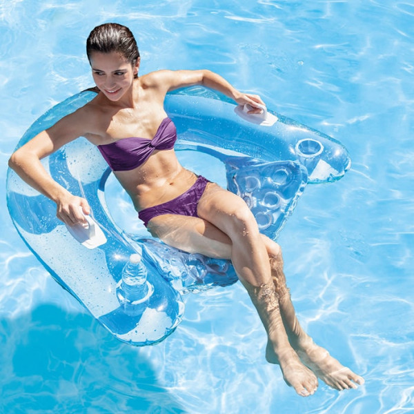 fauteuil de piscine gonflable semi immerge intex sit n float