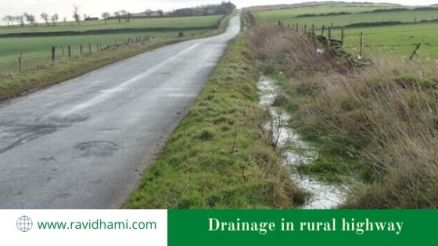 Drainage in rural highway