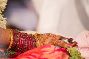 Candid Indian Wedding - bride - bangles