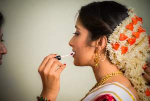 Candid Indian Wedding - bride - bride makeup