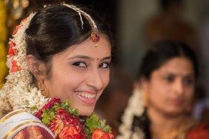 Candid Indian Wedding - bride - closeup