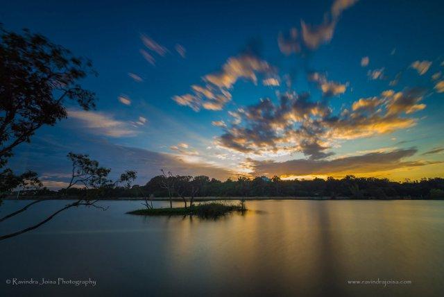 cloud movement long exposure shot