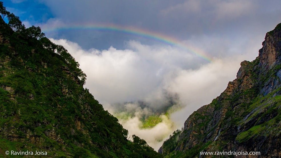 Rainbow and the tunnel view