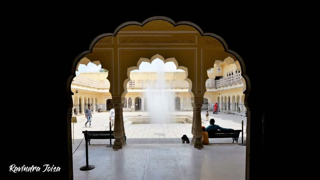Fountain at Hawa Mahal Jaipur