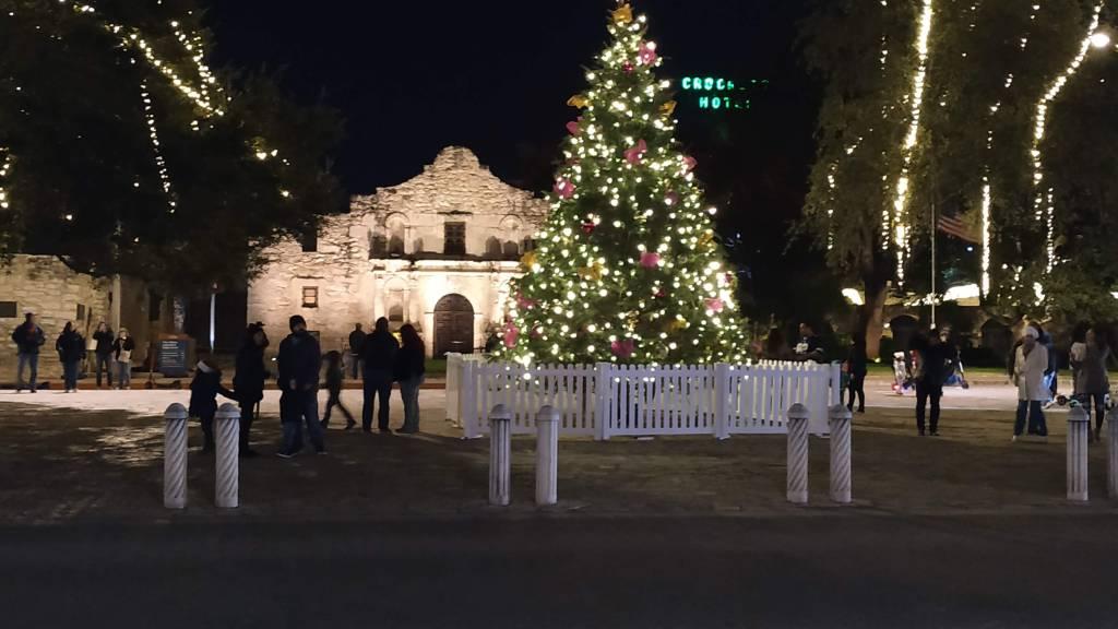 San Antonio with illumination