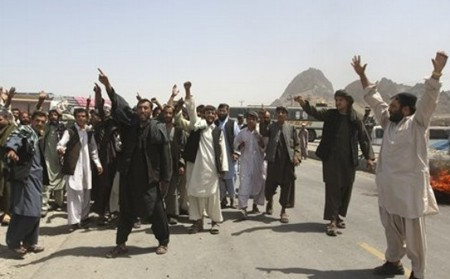 Afghans protest killings by US troops