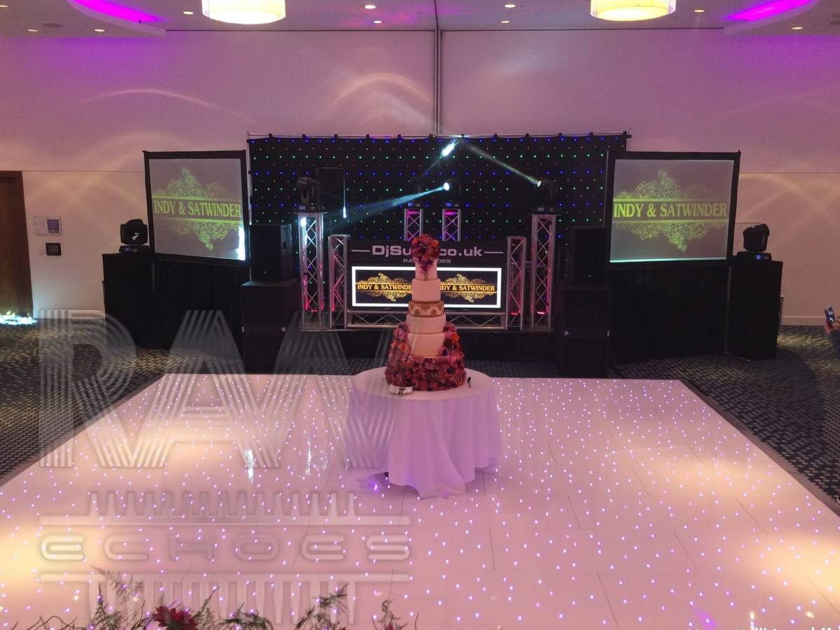 Led Screen Hire Video DJ Hotel wedding