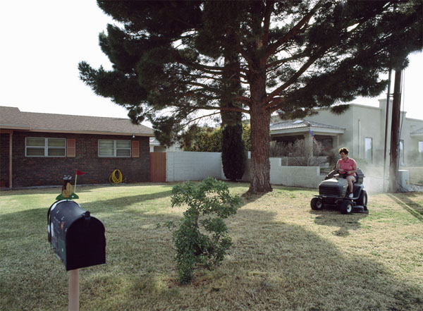 Mowing the Lawn. Carsbad, New Mexico, 2006