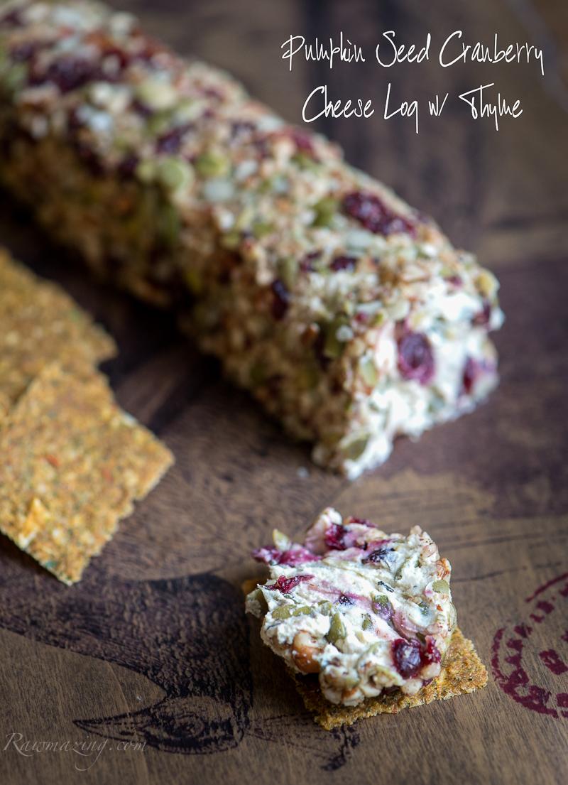 "Vegan Pumplin Cranberry ""Cheese"" log @Rawmazing.com"