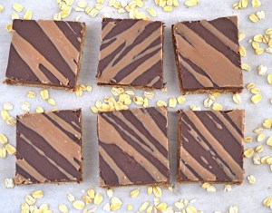 Vegan oat Fudge bars
