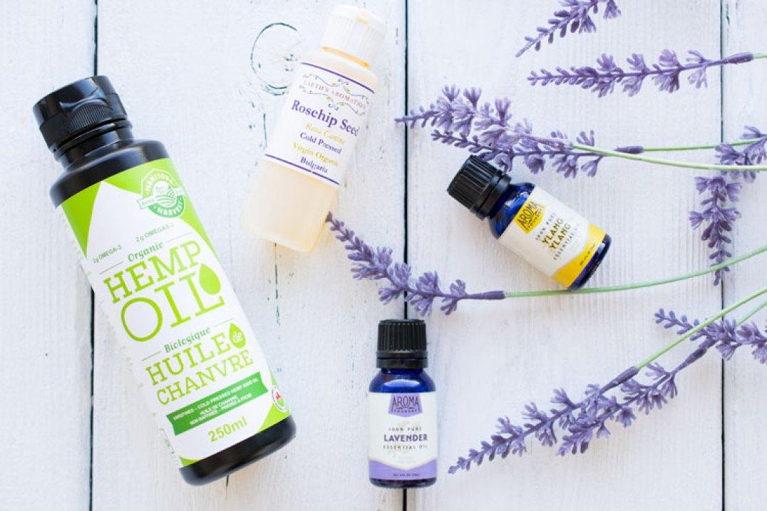 DIY face oil for acne prone skin