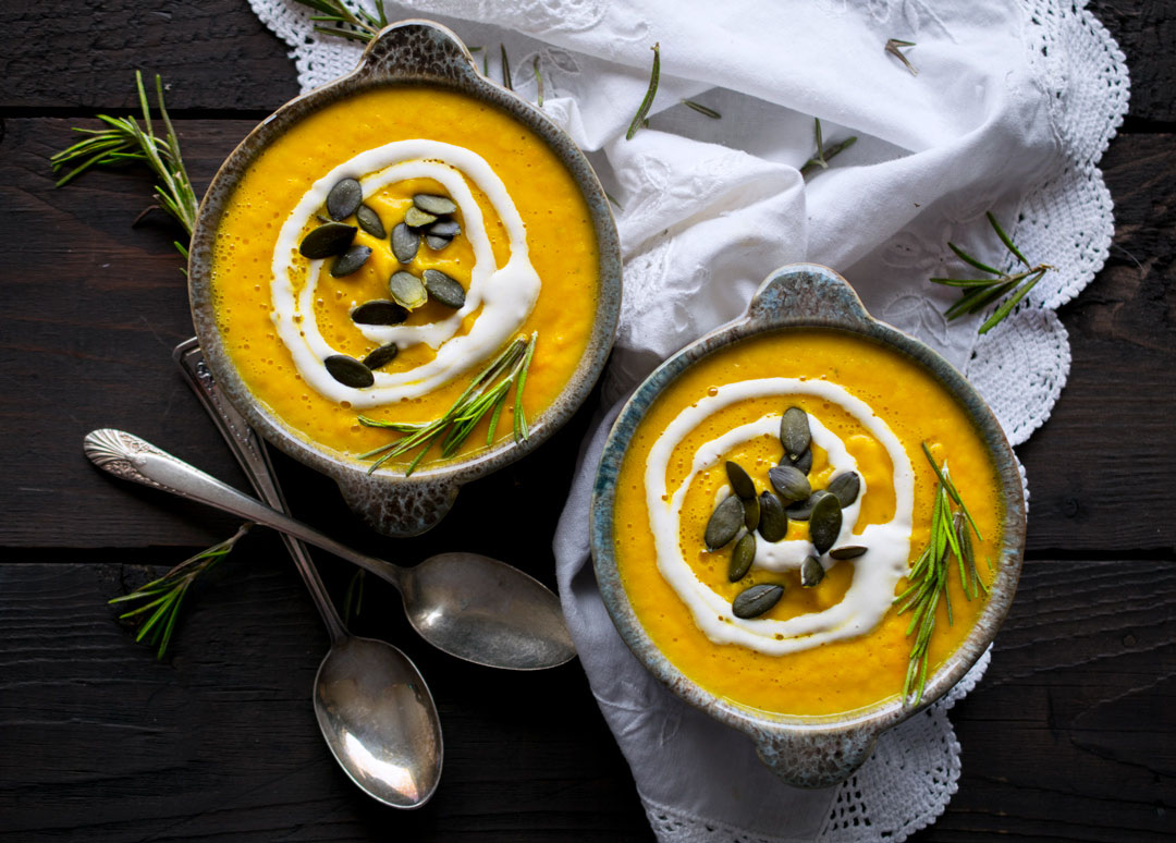 Creamy Pumpkin Soup (Raw Vegan)