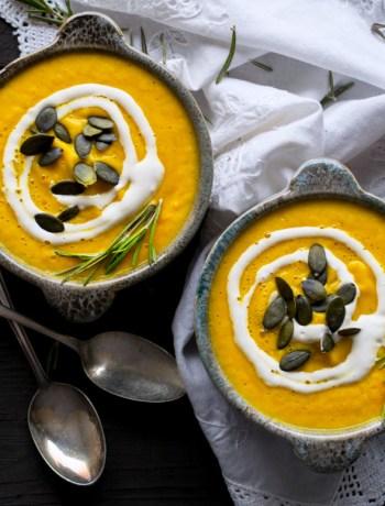 Creamy Pumpkin Soup (Raw Vegan)