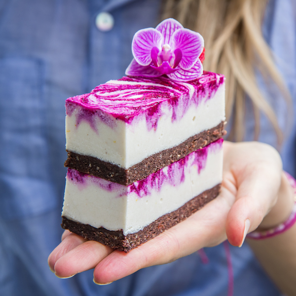dragon fruit cheesecake bars