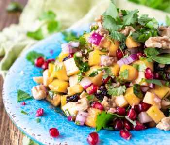 Fall Pomegranate Pumpkin Salad