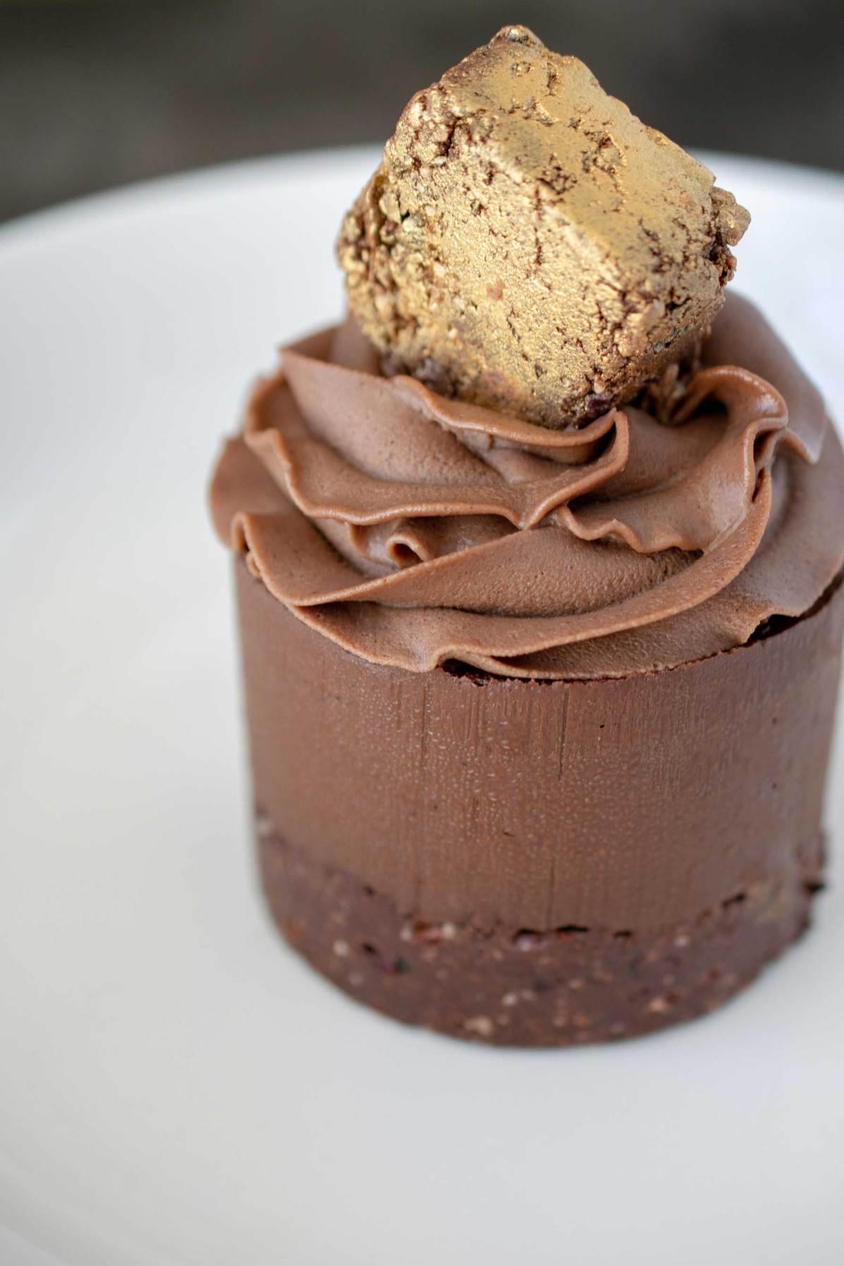 Vegan Double Chocolate Fudge Cake