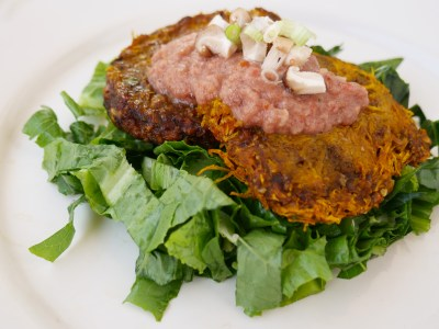 Raw vegan pumpkin burger recipe - raw food diet recipes