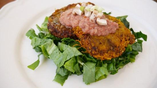 Vegan pumpkin burger recipe - raw food diet recipes