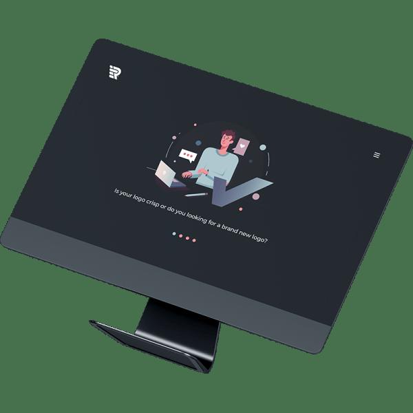 Raxlogo - Computer Screen - Professional Logo Design