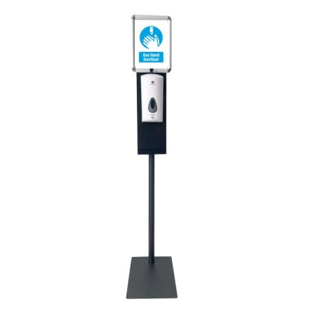 """Hand Sanitizing Station with 8.5""""x11"""" Poster Holder"""