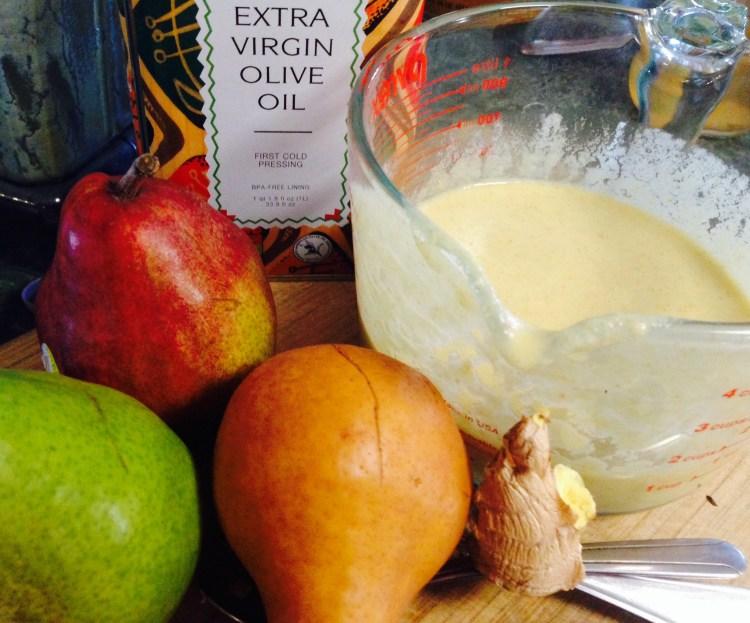 Pear Ginger Vinaigrette Ingredients