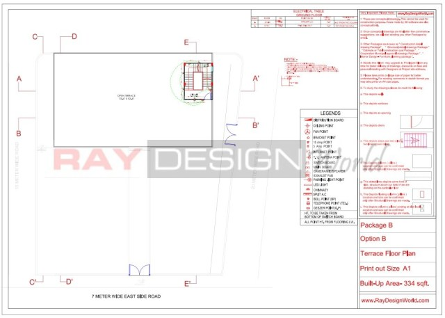 Marriage Hall - Electrical layout