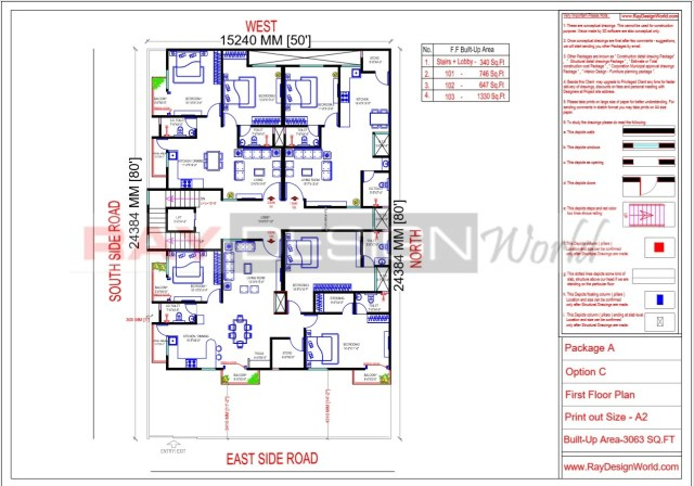 Apartment Design - First  Floor Plan -Lucknow Uttar Pradesh - Mr.Narendra Kumar Tripathi
