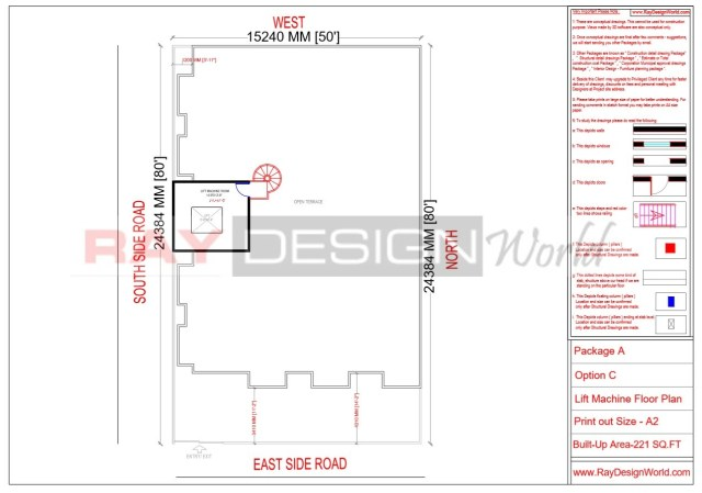Apartment Design - Lift Machine Floor Plan -Lucknow Uttar Pradesh - Mr.Narendra Kumar Tripathi