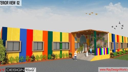 Play School Design - 3D Exterior Design - Hajipur Bihar - Md Arshad