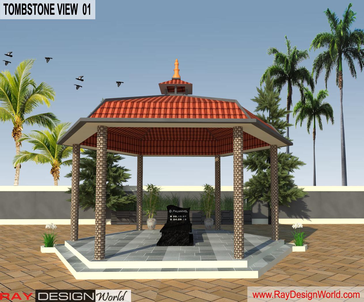Tomb Stone Design Exterior View 03 - Vriddhachalam Tamil Nadu - Dr. Murugadas