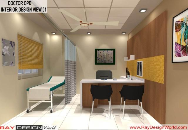 Hospital Doctor's OPD   Interior Design - Shimoga Karnataka - Dr. Rajeev Pandurangi