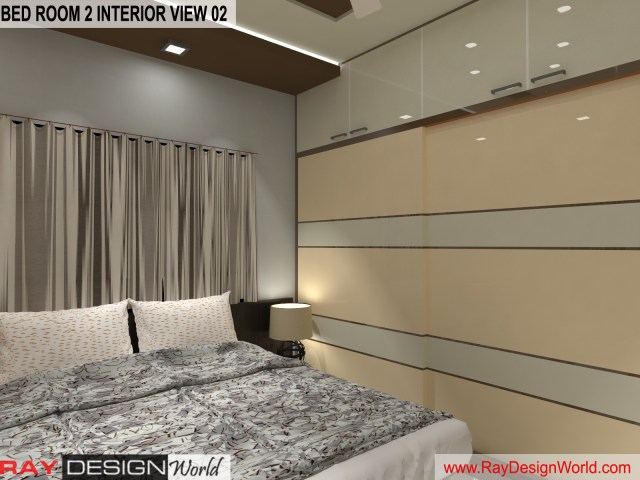Bed Room 2  Interior Design view 02 - Vadodara Gujarat - Mr.Chirayu Soni