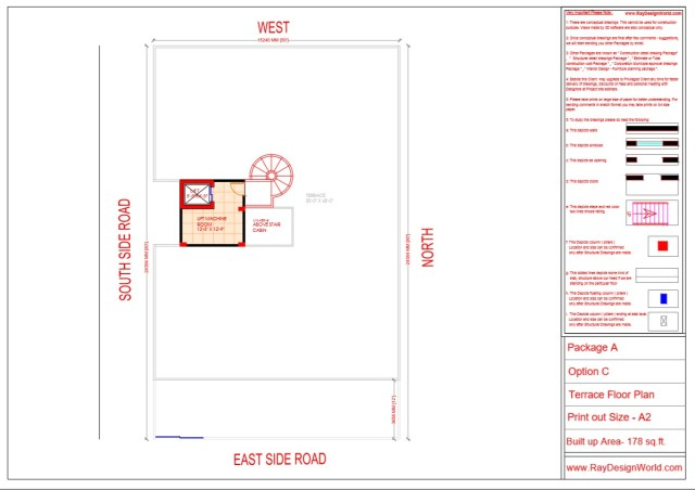 Guest House Lift machine Floor Plan - Lucknow UP - Mr. Narendra Kumar Tripathi