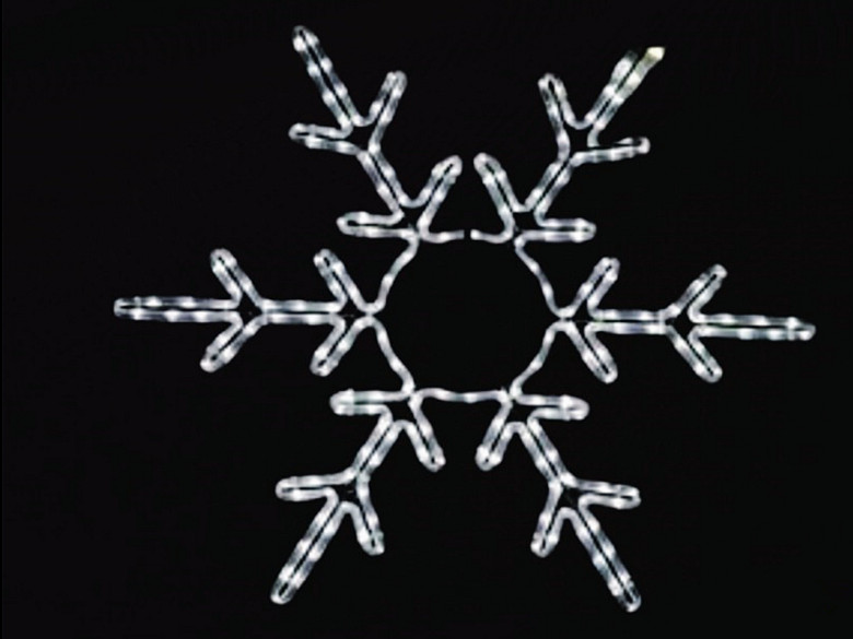 Small Size Led Snowflakes Led Decrorations