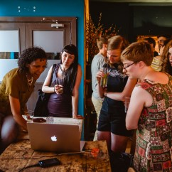 Relaxed gaming at a women-inclusive LadyCADE event