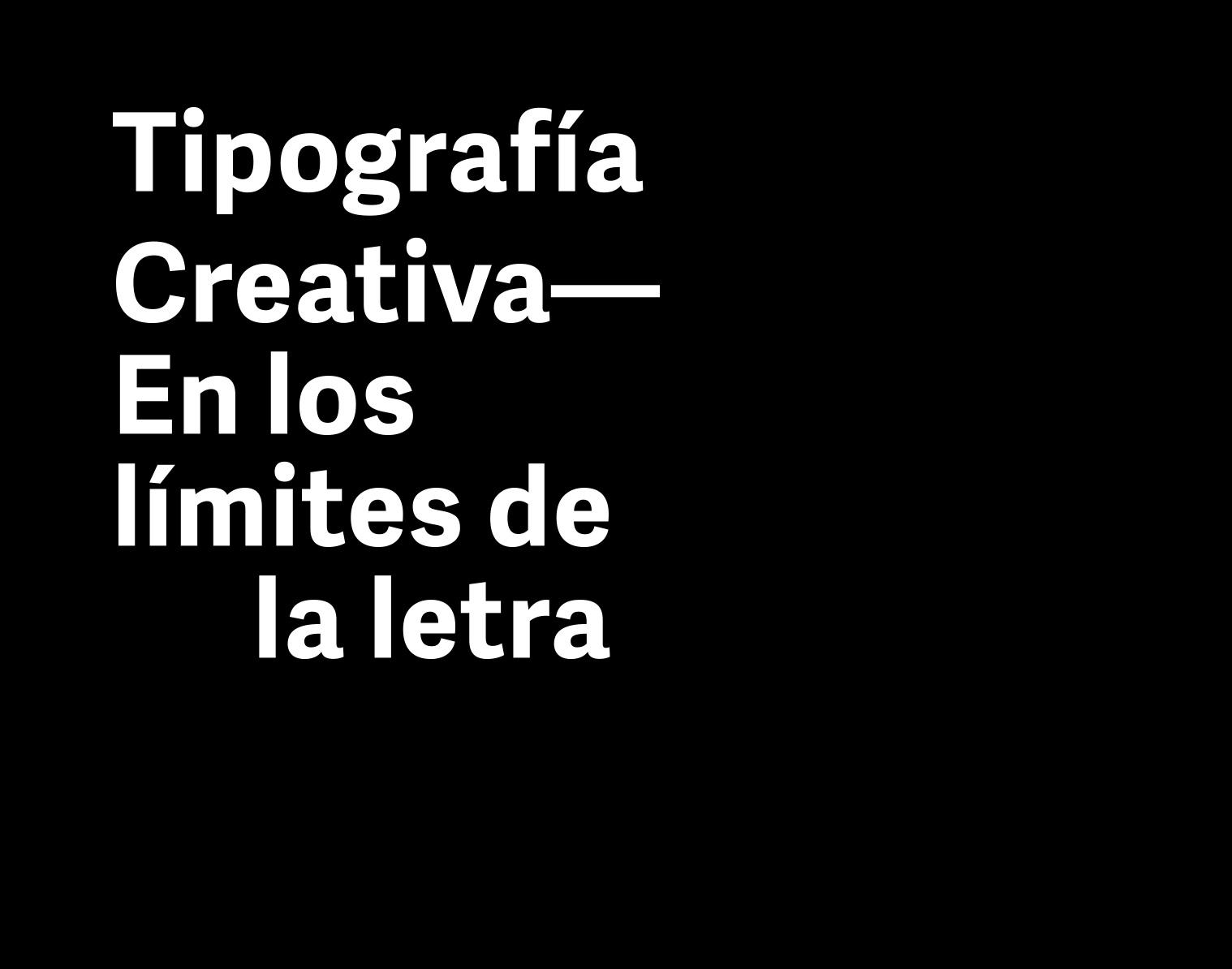Tipografía creativa. En los límites de la letra   Rayitas Azules ...