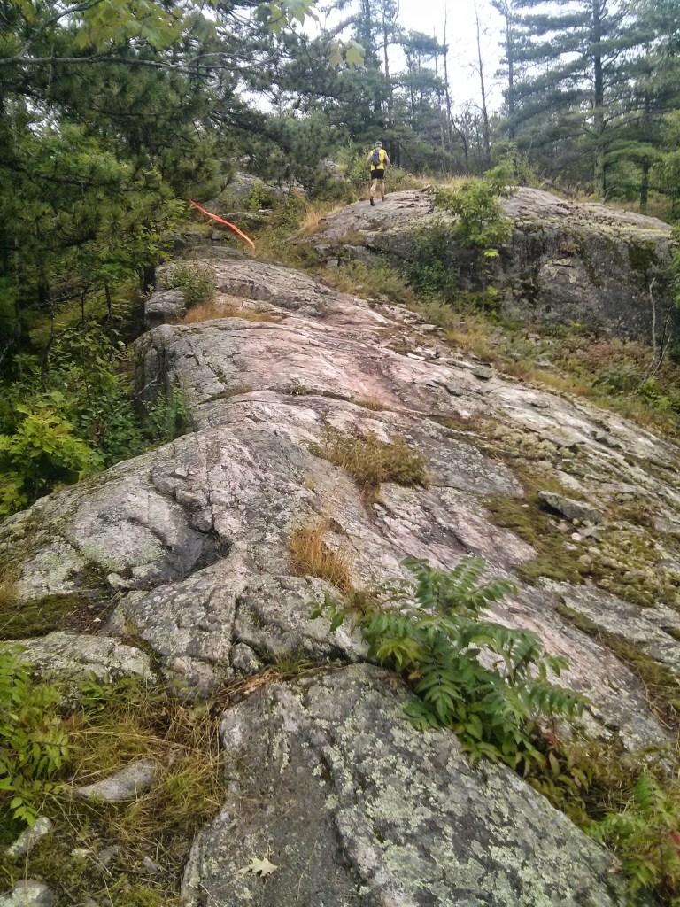 Climbing up Bareback