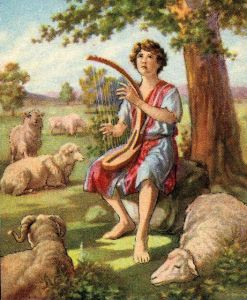 David Playing the Lyre