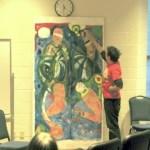 "Christopher Leet, Painting, ""Descartes' Sissors"""