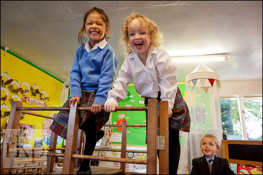 Cransley school infants on climbing frame