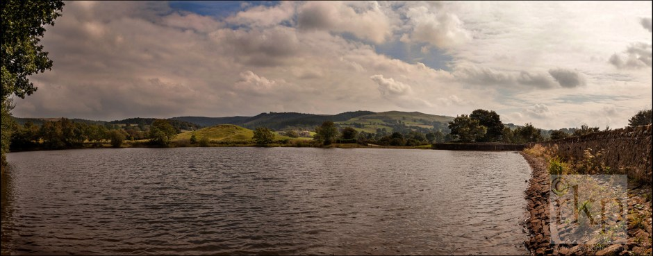 Panorama of Tegg's Nose reservoir