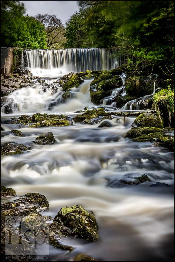 Crumlin Glen waterfall long shot
