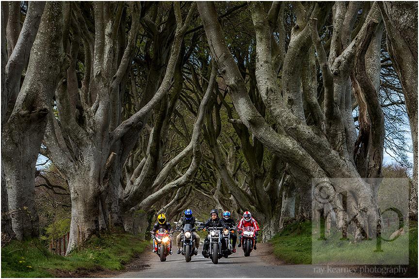 Dark Hedges bikers 001