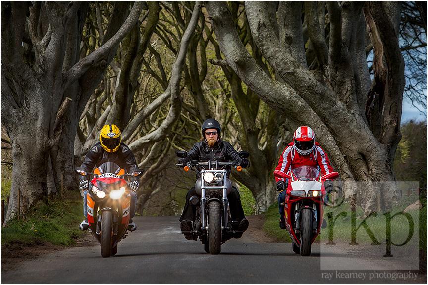 Dark Hedges bikers 004
