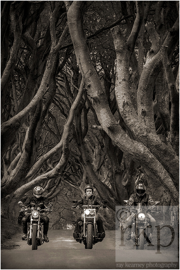 Dark Hedges bikers 006a