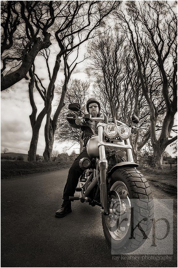 Dark Hedges bikers 010-2a