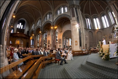 Wedding ceremony at church in St Helens