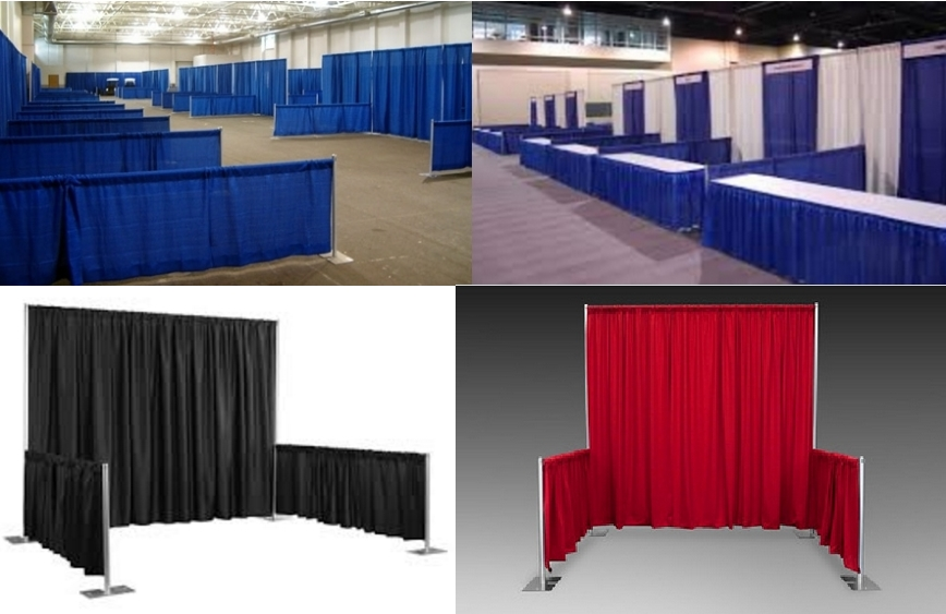 RK Trade show booth of blue & white trade show, Red trade show, black trade show etc.