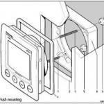 Raymarine ST60 Flush mount compleet A25003