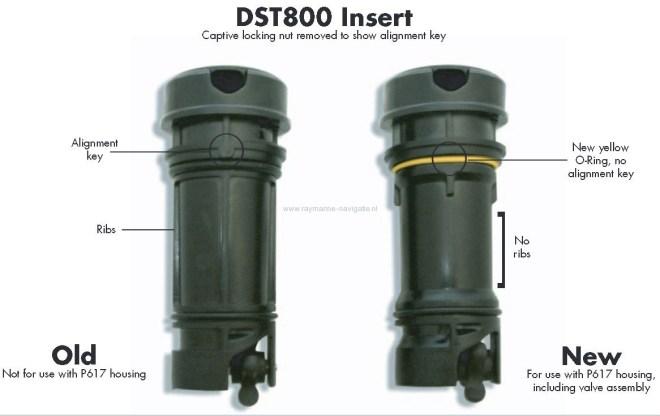 DST800 DST smart triducer rubber ring geel zwart Raymarine A22111